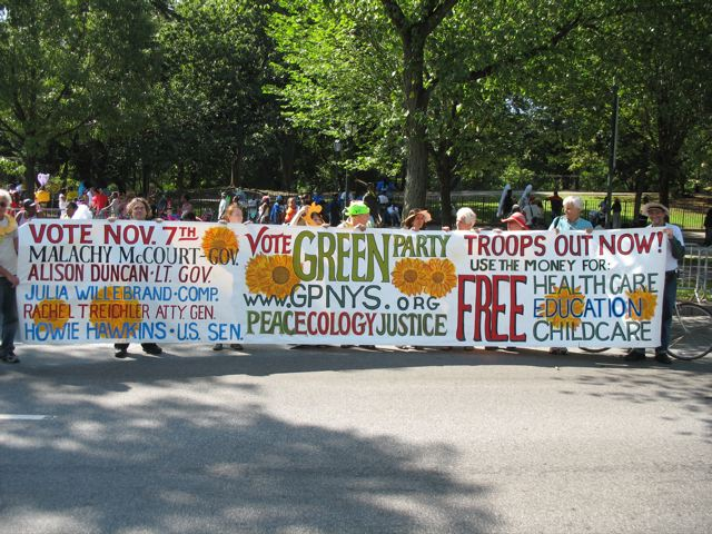 Greens March in the West Indian American Labor Day Parade!
