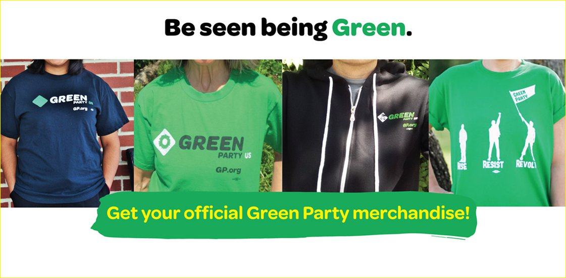 Green Party Official Party Merchandise
