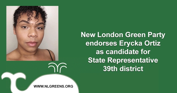 Photo of New London CT Green Candidate Erycka Ortiz