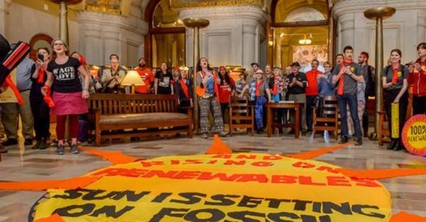 Climate Activists Occupy NY State Capitol Building