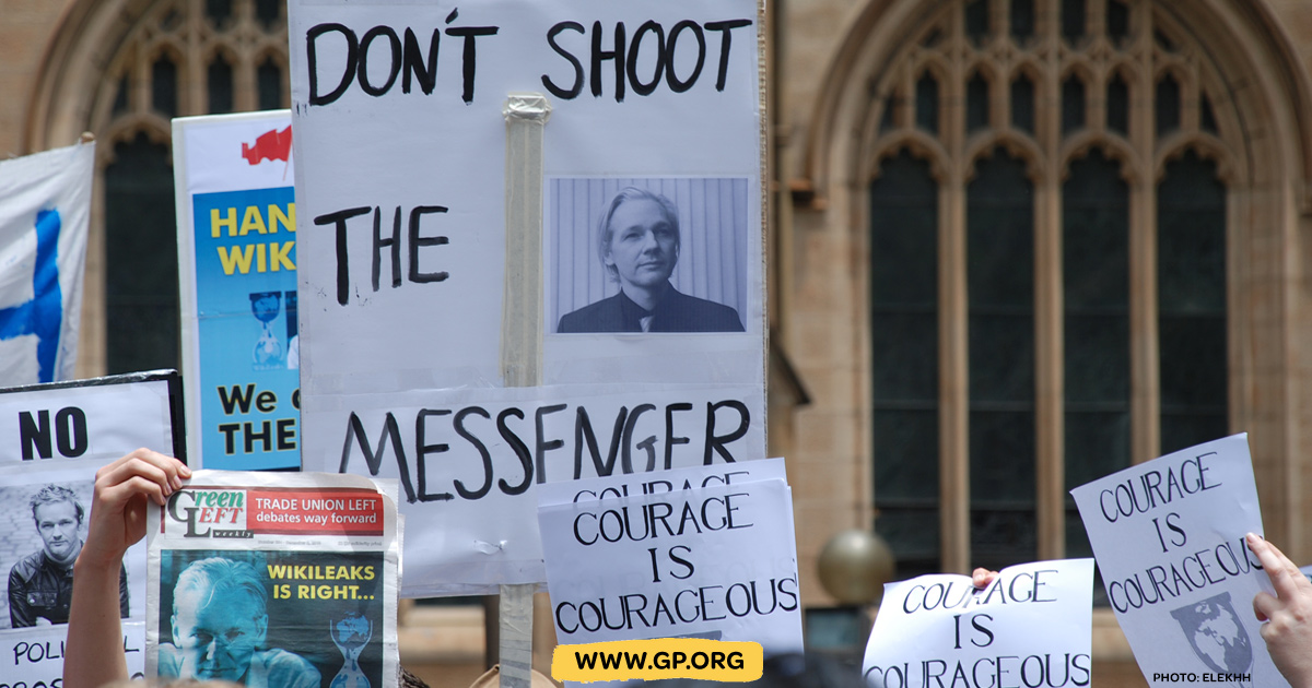 The prosecution of Julian Assange is a threat to journalists everywhere -  www.gp.org