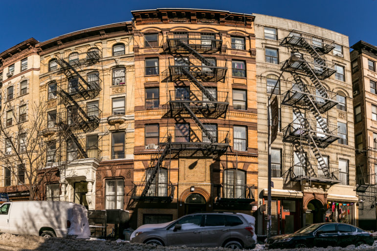 A CLT in the East Village: 25 East 3rd street flanked by 23 East and 27 East 3rd Street to the left and right respectively. The three building are a part of the Cooper Square Community Land Trust.
