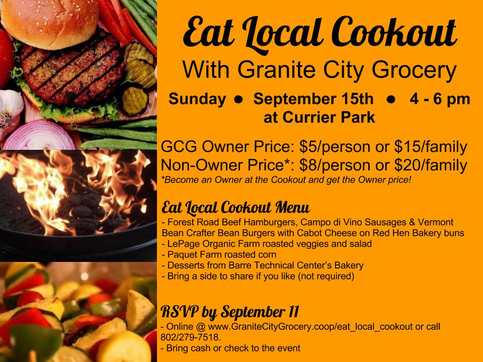 Eat Local Cookout Volunteer Appreciation Event