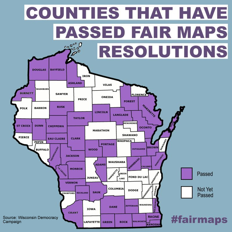 County Resolutions for Fair Maps