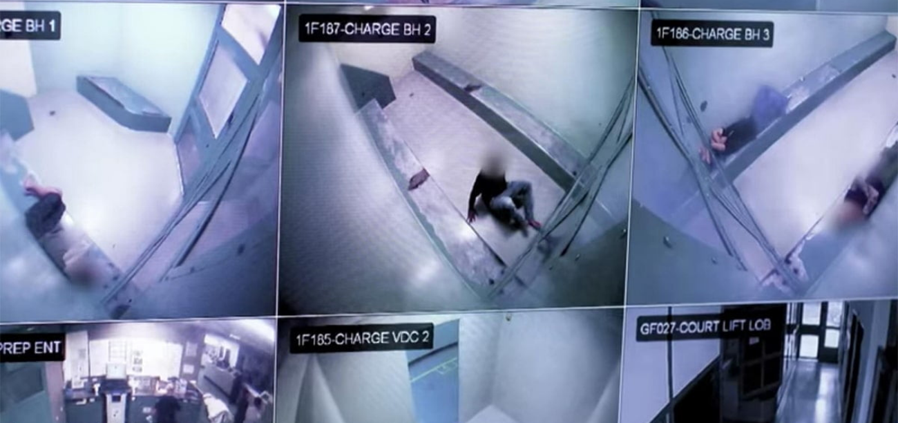 CCTV footage shown in the Four Corners expose about police watch house conditions for children