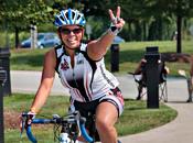 Photo - Woman having on bike