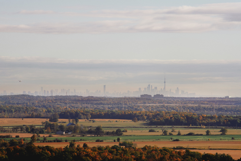 Emerald city: The Toronto cityscape rises above the Greenbelt, as seen from Mount Nemo, along the Bruce Trail, 64 km west of the GTA.