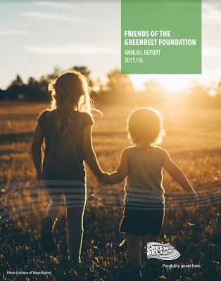 2015-2016 Greenbelt Foundation Annual Report