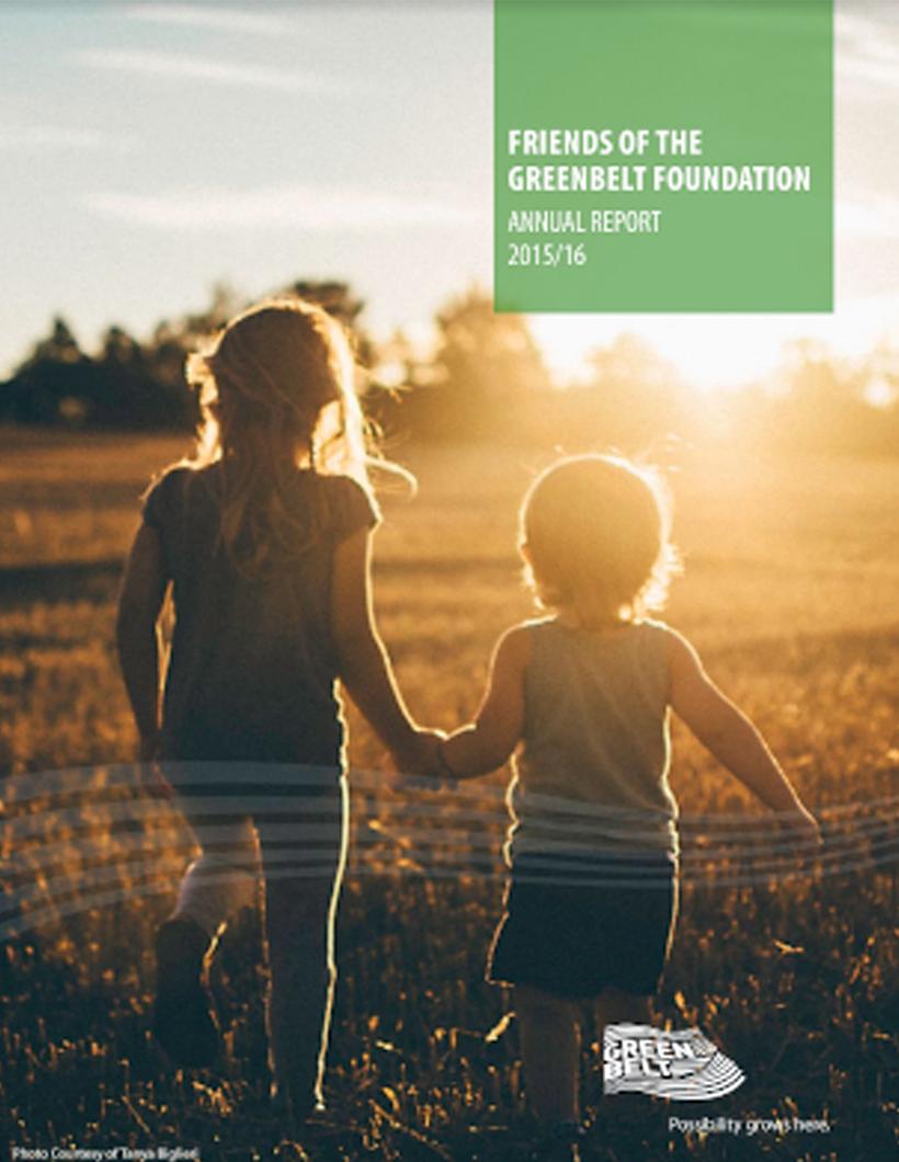 2015-2016 Greenbelt Foundation Annual Report
