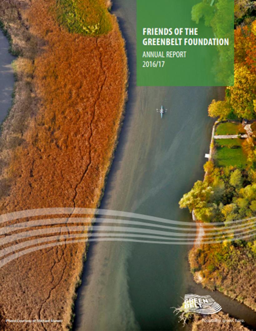 2016-2017 Greenbelt Foundation Annual Report