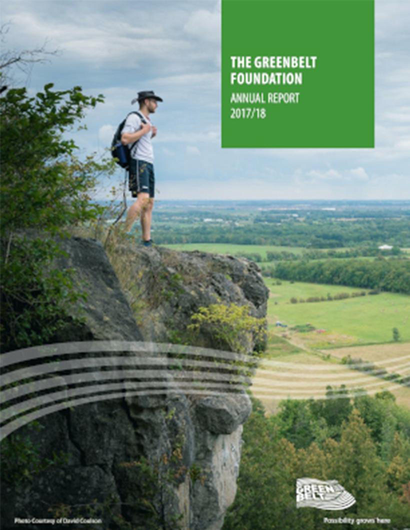 2017-2018 Greenbelt Foundation Annual Report