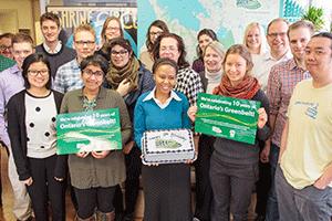 Photo - Greenbelt Staff with Greenbelt cake