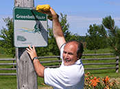 Photo - Mayor Steve Pellegrini installed the sign on Kettleby Road, King.
