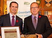 Photo - former Premier Dalton McGuinty and Greenbelt CEO Burkhard Mausberg