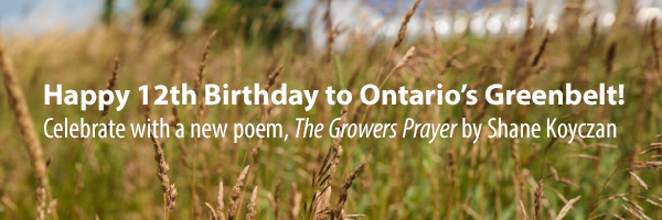 Photo – Celebrate the Greenbelt's 12th Birthday with a new Poem by Shane Koyczan!