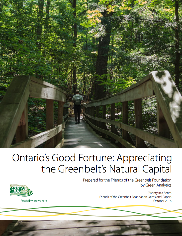 Greenbelt Natural Capital