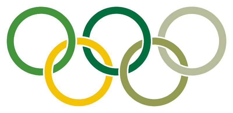 Image of Olympic Rings in Greenbelt brand colours.