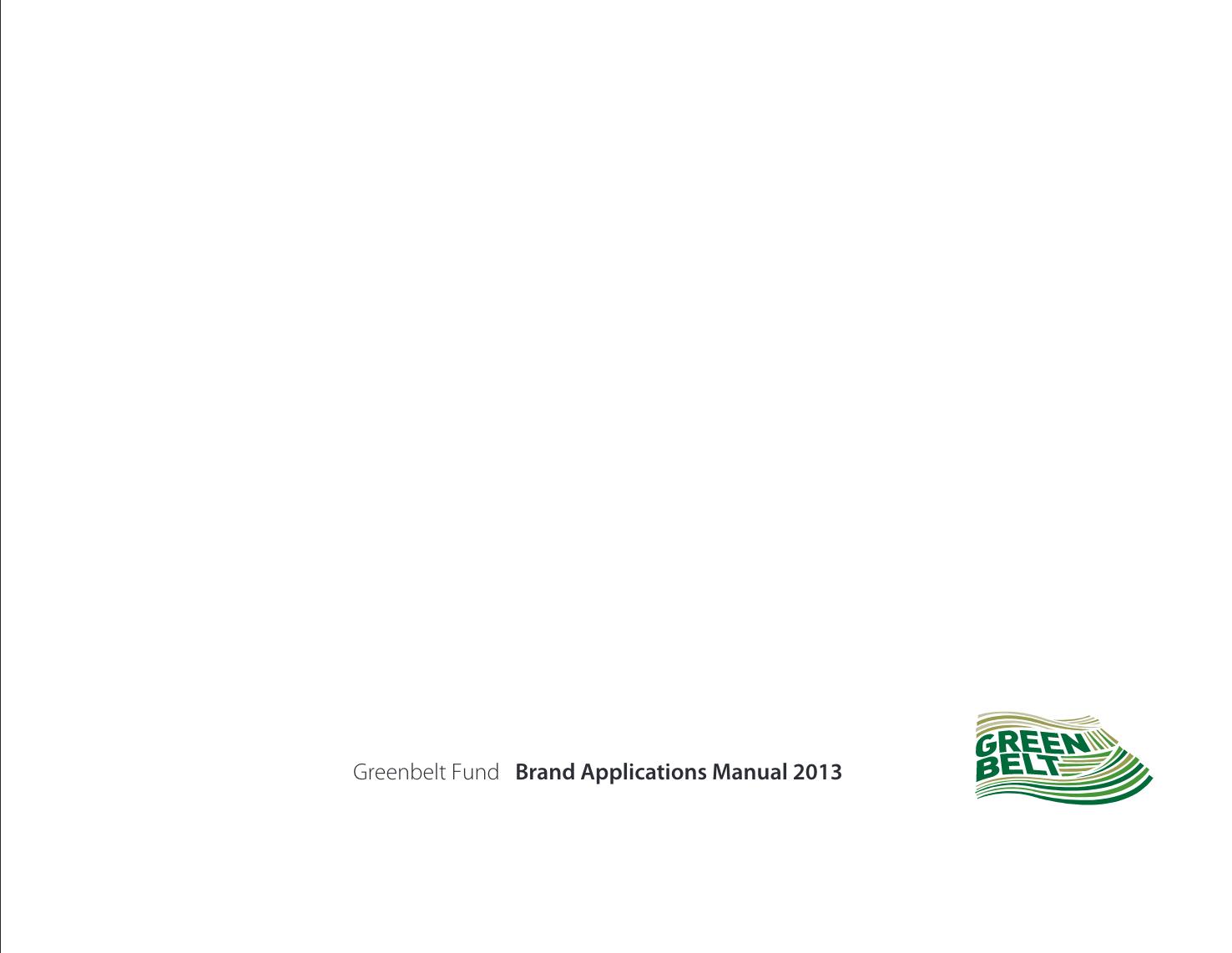 Brand Standards - Greenbelt Fund