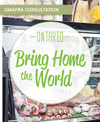 OMAFRA Bring Home the World Logo