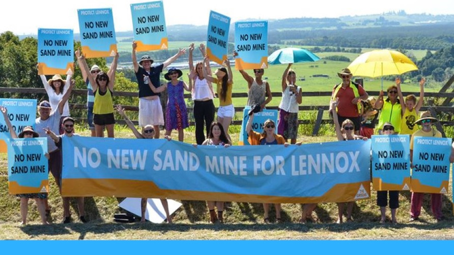 No Sand Mine for Lennox protest group
