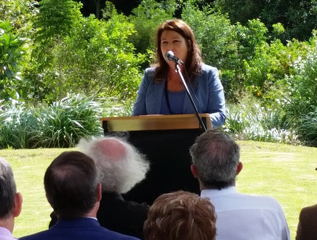 Tamara Smith opening the Wollongbar Sporting fields 24 April 2018
