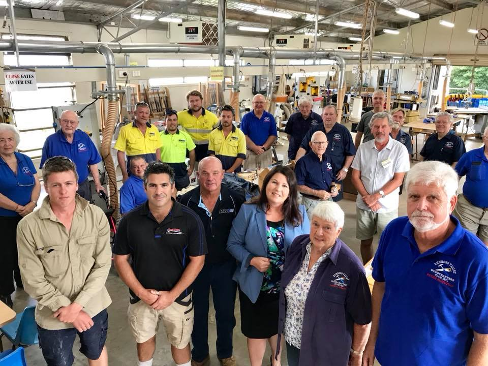 Richmond Valley Woodcrafters with Tamara Smith MP for Ballina