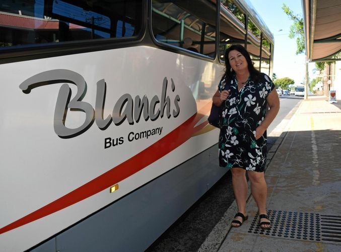 Tamara Smith Member for Ballina catching Blanch's Bus service from Ballina to Lismore