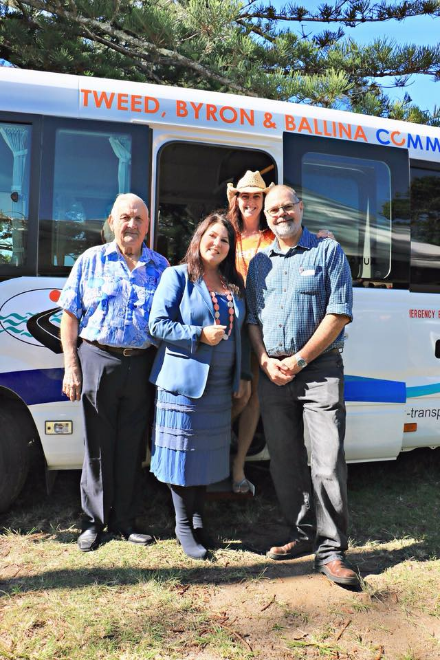 Tweed Byron Ballina Community transport volunteers with Tamara Smith Member for Ballina
