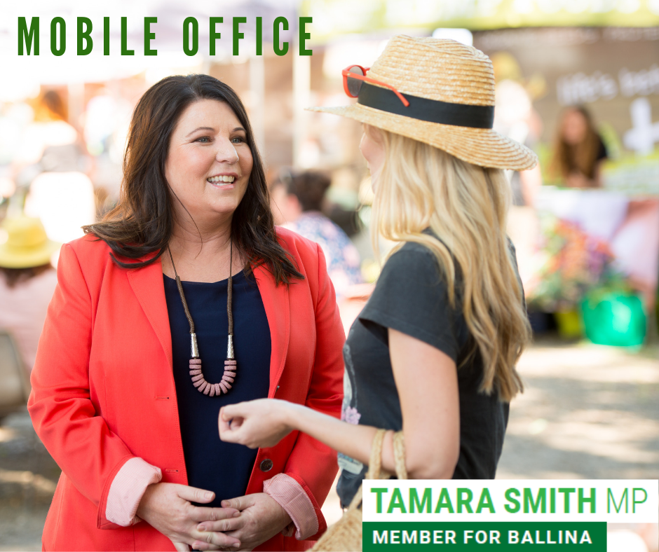Tamara Smith Member for Ballina mobile office dates December