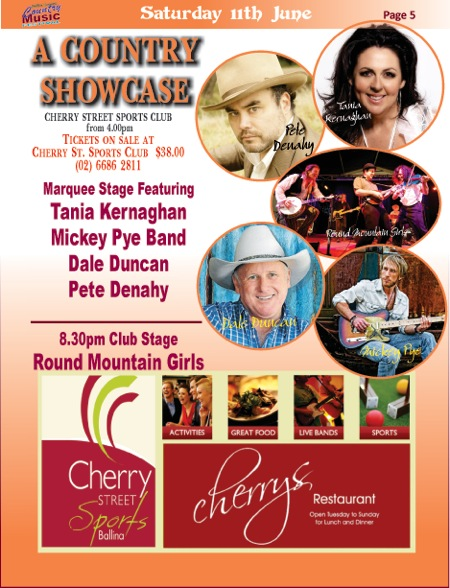 Country Music Showcase Saturday 11 June