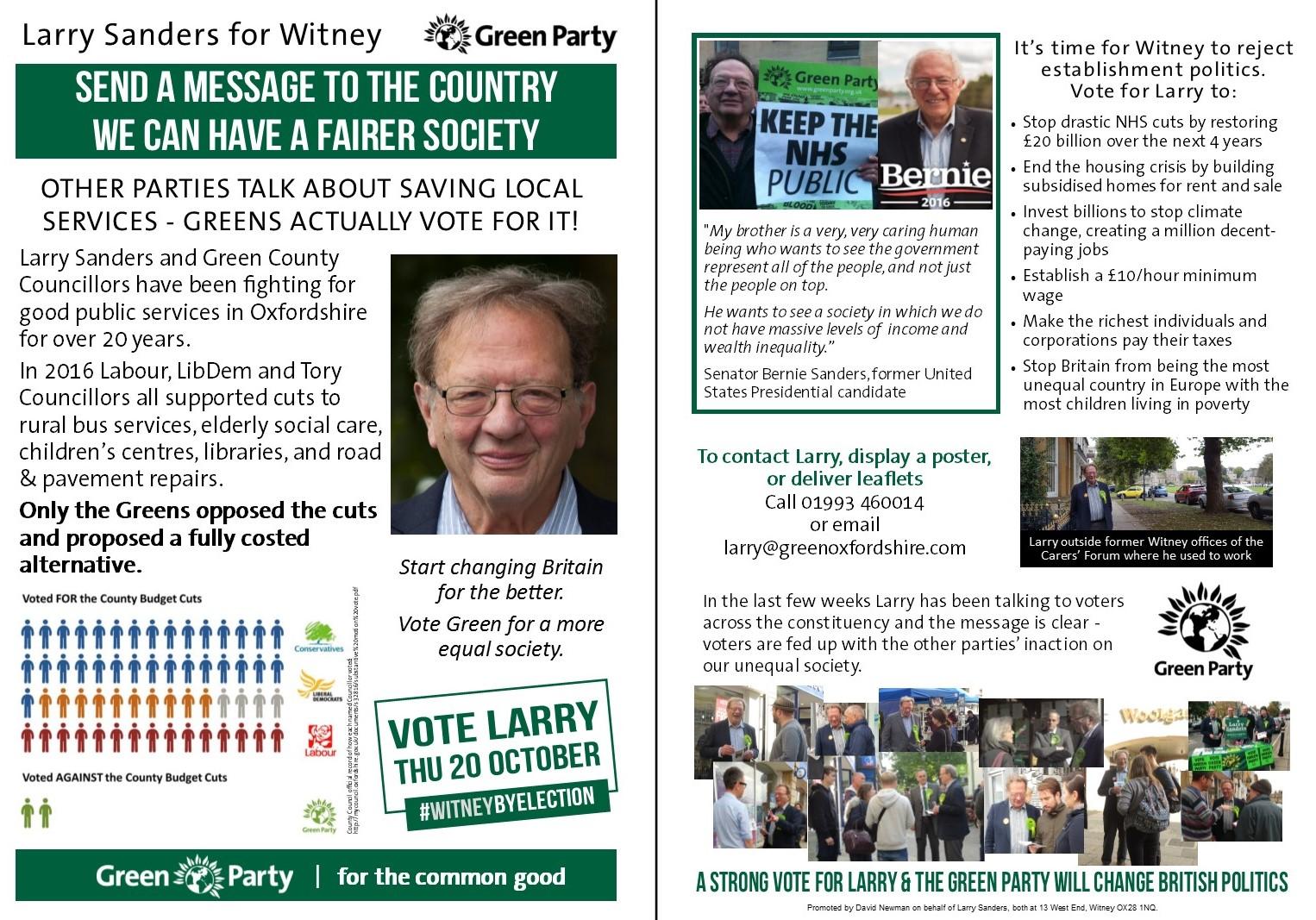 Larry Sanders leaflet 3