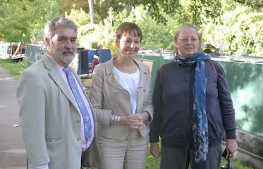 David Williams, Caroline Lucas and Hazel Dawe