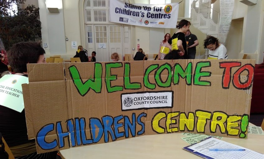Children centres OCC protest - May16. Pic by Ruthi Brandt