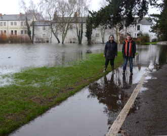 Judy and David in Floods