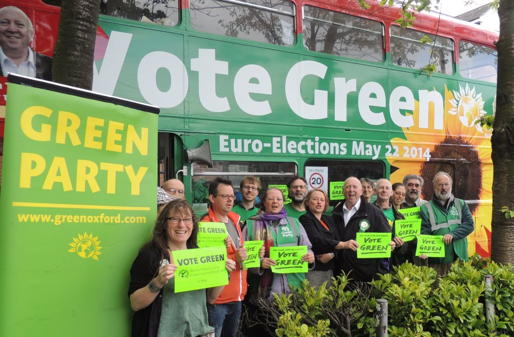 Candidates and councillors with MEP Keith Taylor and Natalie Bennett