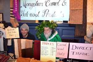 Green Father Christmas and Mongolian Wool