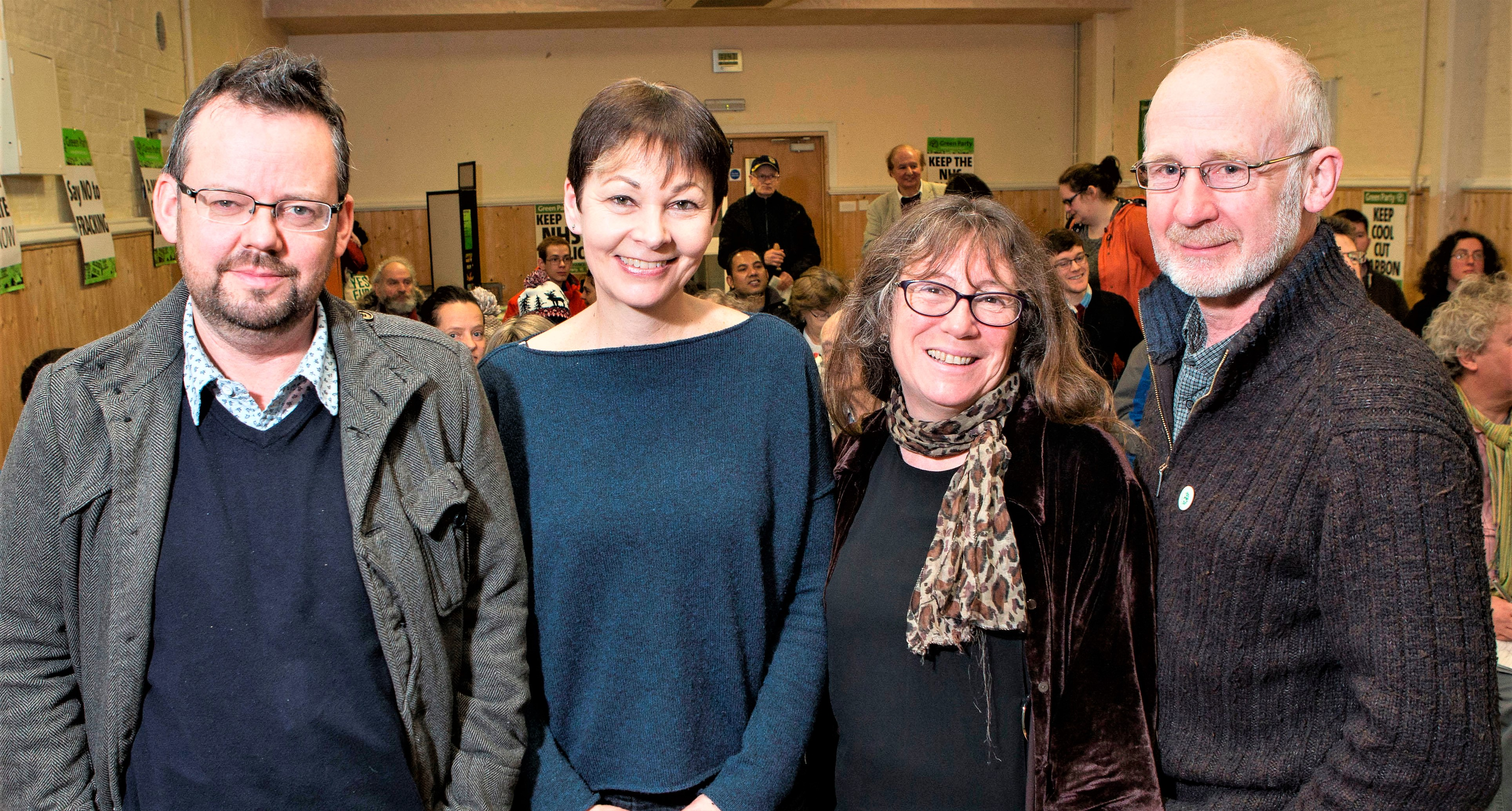 Caroline Lucas with leading Green Councillors and candidates