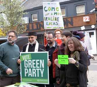 Caroline Lucas and Oxford candidates