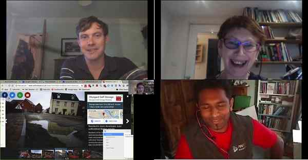 Rural Green video chat montage
