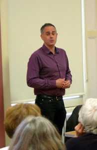 Jonathan Bartley speaking in Witney