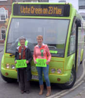 Cllrs. Sue Roberts and Andrea Powell