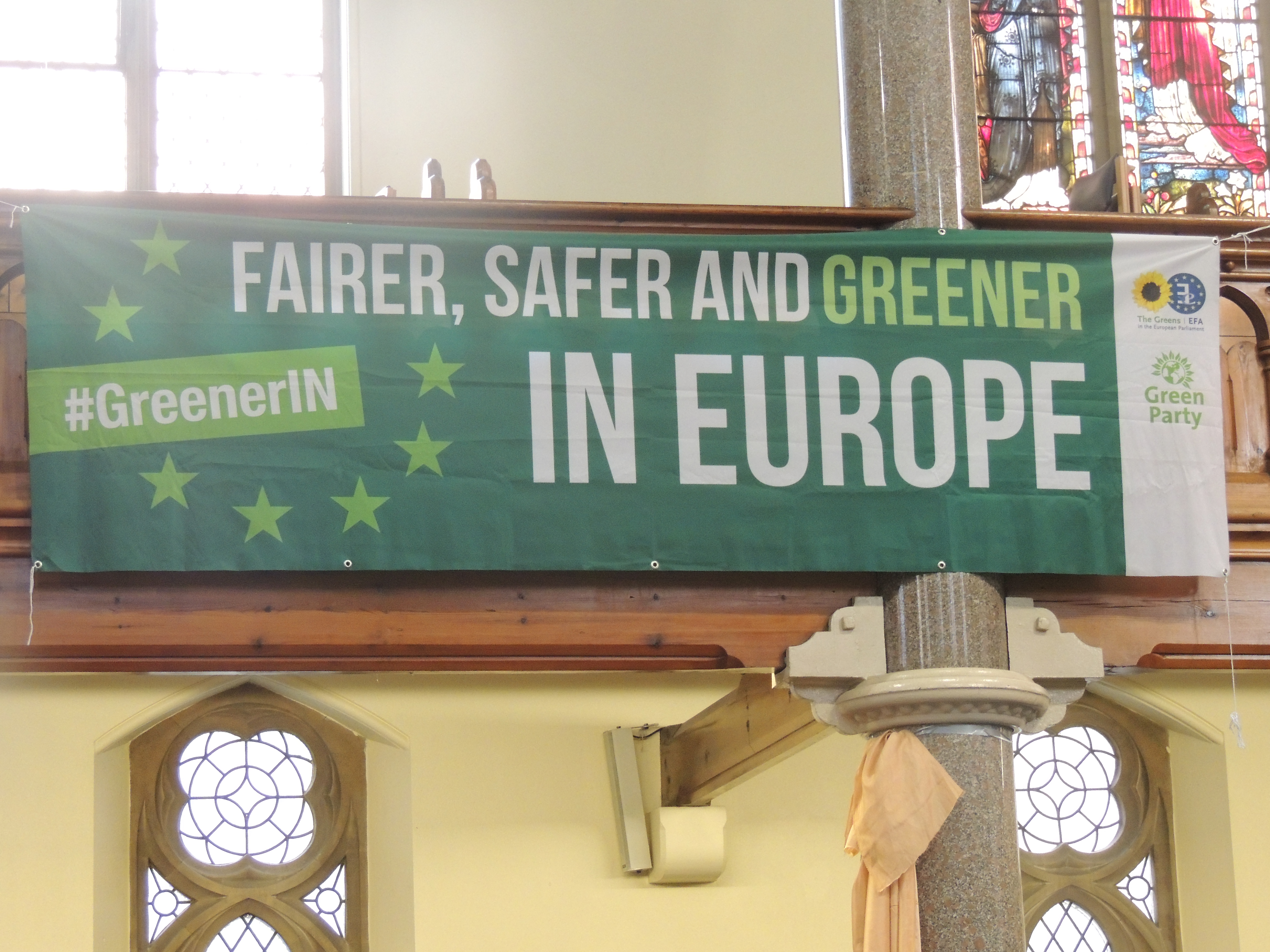 Public meeting banner