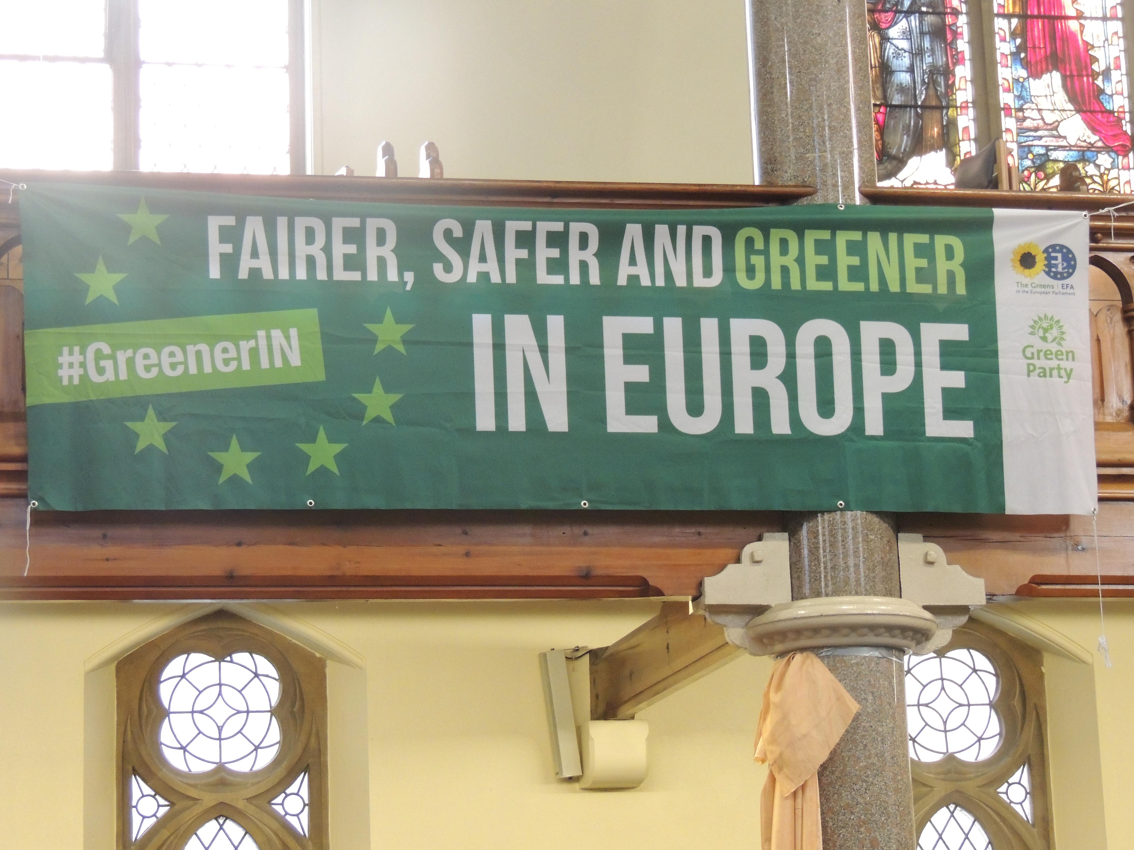 Public meeting banner