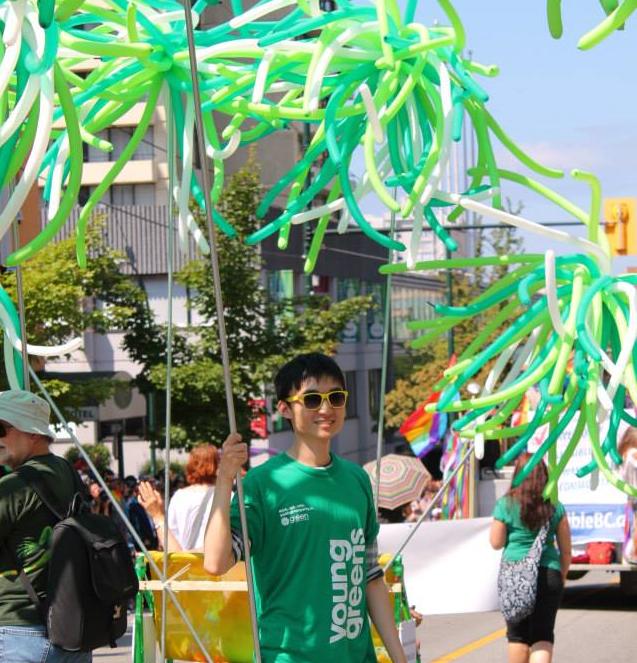 Regan at the Pride Parade in Vancouver 2013