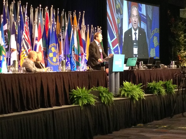 Andrew Weaver speaking at UBCM