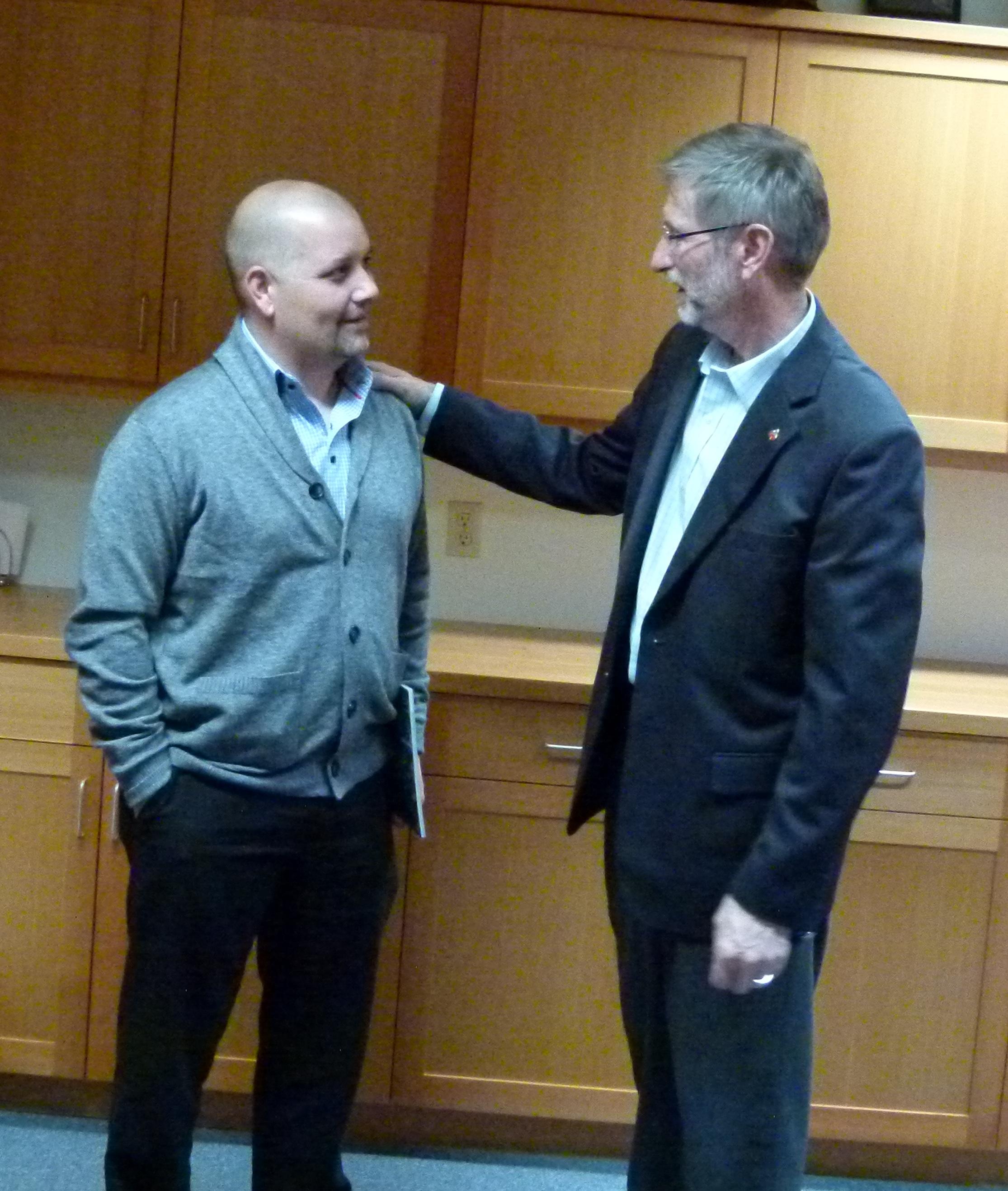 Adam Meets with Nelson Mayor, John Dooley