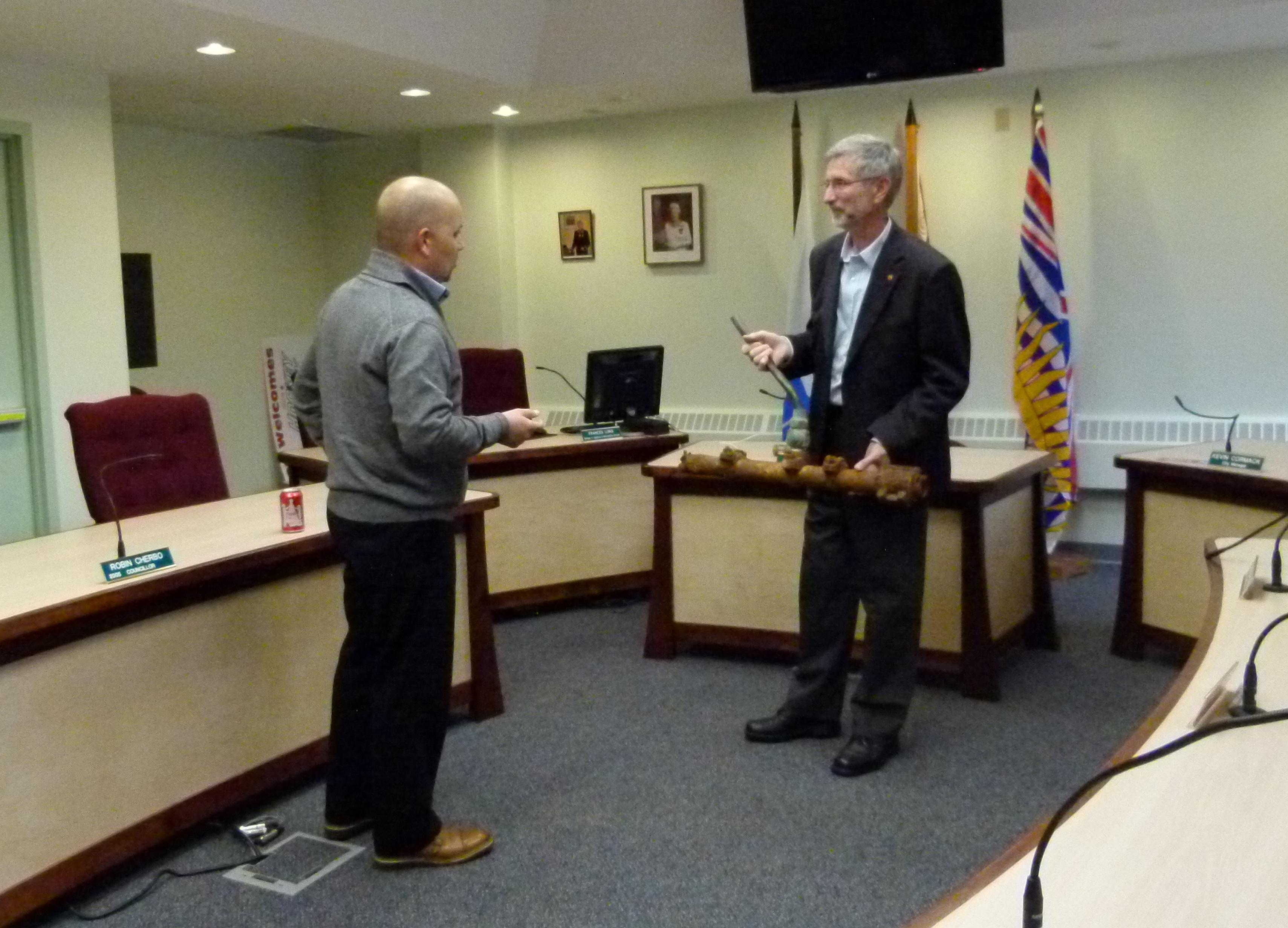 Adam talks infrastructure with Nelson Mayor, John Dooley