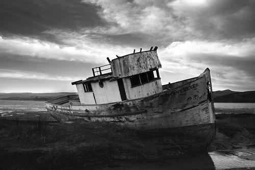 Derelict Boat - Credit Flickr: Genista