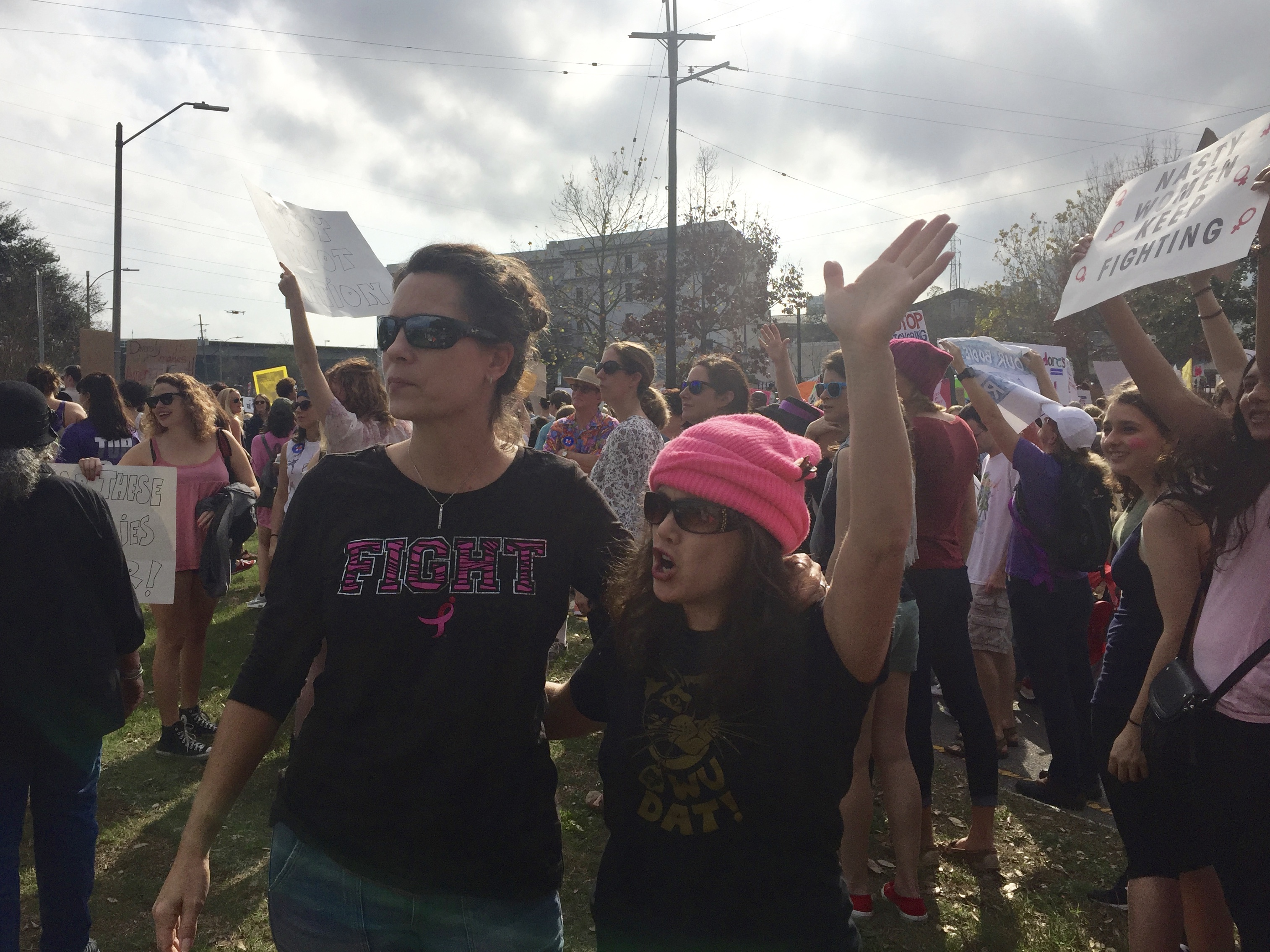 My wife and a friend at the Women's March in New Orleans. Thanks to the random stranger who took this photo, whoever you are.