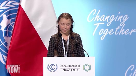Greta Thunberg to COP 24